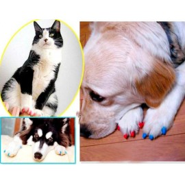 Антицарапки, накладки на когти для животных, защита коготков, мягкие накладные ноготки для животных