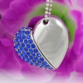 Флешка 2 в 1, красивое ювелирное украшение кулон в сердца ) - флешка 16 GB