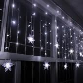 Гирлянда - занавес «Изящные Снежинки»  3,5 м для внутреннего и внешнего дизайна
