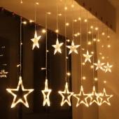 Гирлянда - занавес «Романтические Звезды»  2,5 м для внутреннего и внешнего дизайна