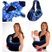 Сумка-слинг рюкзак из натуральной дышащей ткани