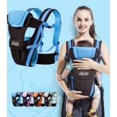 Уникальный очень удобный рюкзак кенгуру слинг с плотной спинкой, которая поддерживает спинку ребенка (ортопедический), 6 положений