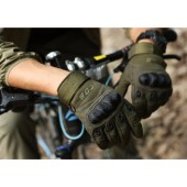 Защитные тактические термостойкие перчатки Action. Комбинированные перчатки из кожи и номекса. Дышащие, легкие