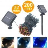 Праздничные гирлянды на 200 светодиодов на солнечной батарее