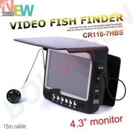 Видео рыбоискатель  - подводная  видеокамера Fishfinder  8 ИК из светодиодов 800TVL 4.3