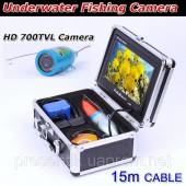 Подводная камера с цветным 7 дюймовым монитором  и встроенными светодиодами