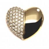 Флешка кулон, флешка 2 в 1- ювелирное украшение кулон + флеш память в виде сердца