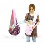 Слинг переноска для собак и кошек из натурального хлопка, двухсторонний слинг переноска
