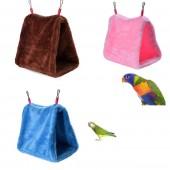 Пушистый подвесной домик-гнездо для попугая, теплый подвесной домик для попугаев