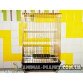 Клетка для средних, мелких и крупных попугаев, канареек, клетка для разведения попугаев с толстыми прутьями №1