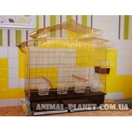 Клетка для средних и мелких попугаев, канареек, клетка для разведения попугаев с купалкой №5